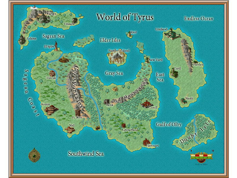 The known world of Tyrus.