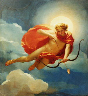 Helios as Personification of Midday by Anton Raphael Mengs. One of an ensemble of four paintings with personifications of the times of day intended as supraportas for the boudoir of Maria Luisa of Parma, Princess of Asturia, now in the Palacete de la Moncloa as part of the Patrimonio Nacional, Madrid. Oil on canvas, 192 x 180 cm.